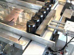 beer canning unit feed out table