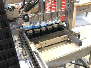 canning unit infeed pusher